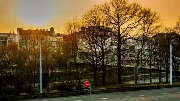 Západ slunce v Ostrava Česká republika