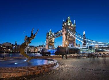Tower Bridge London UK at Night