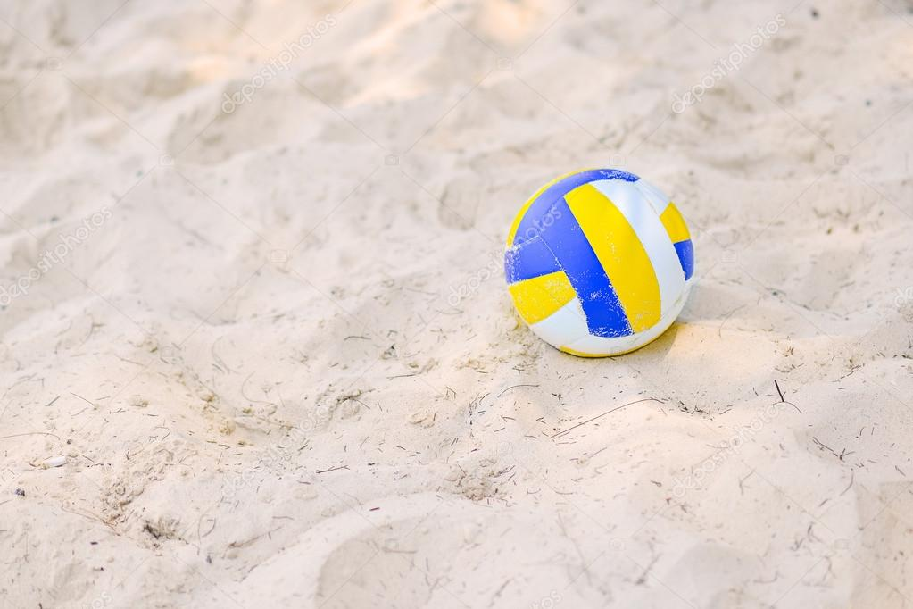volleyball on the sand