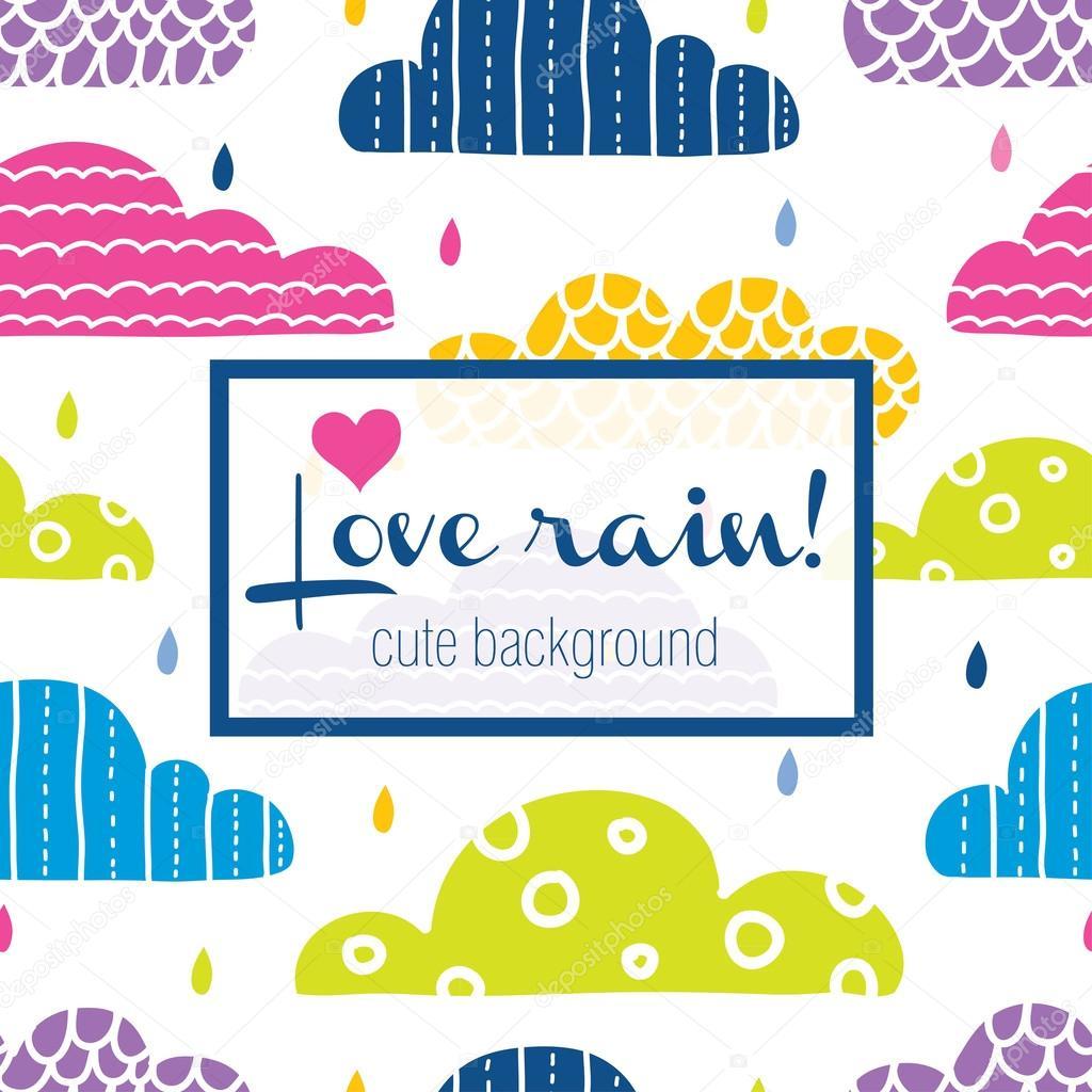 Love rain colorful drops stock vector vyazovskaya 116247540 love rain colorful drops stock vector thecheapjerseys Gallery