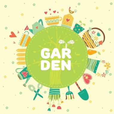 Colorful Garden inscription