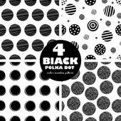 4 černé bezešvé pattern