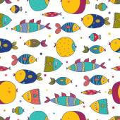 Fotografia modello con pesci colorati