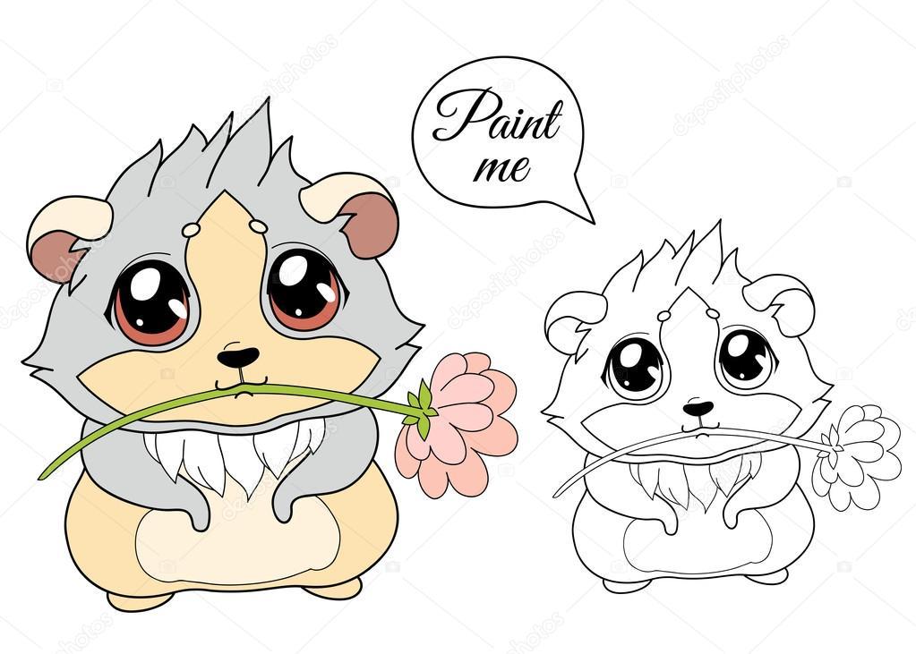 Conejillo de Indias de dibujos animados, vector de ilustración de ...