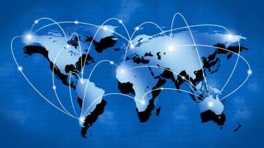 Internet or Business Concept of Global Network