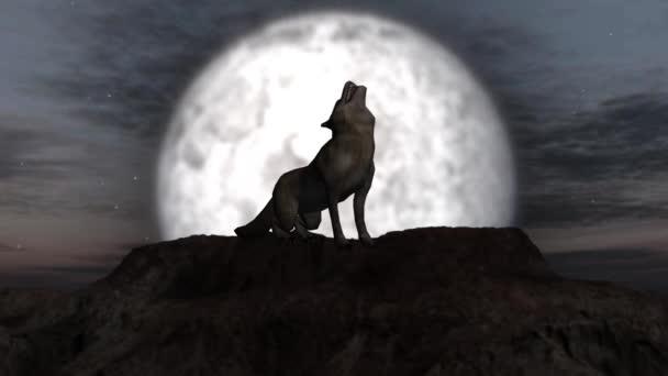 Lobo Aullando A La Luna Llena Elementos Individuales En La