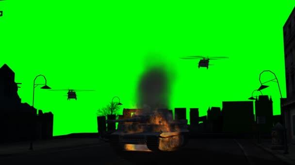 Pálení, brnění a vrtulník létání