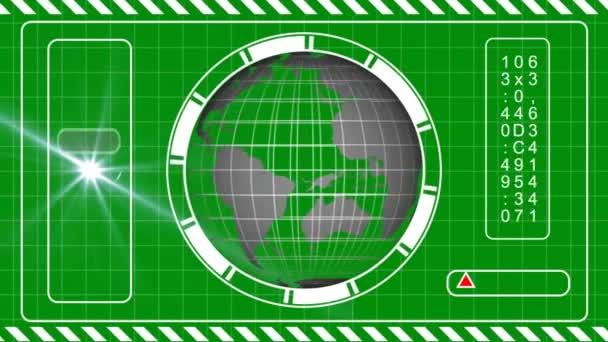 Sci Fi HUD concept animation green screen