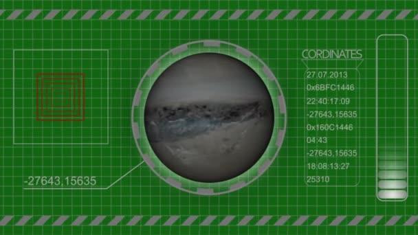 Sci Fi universe HUD animation green screen