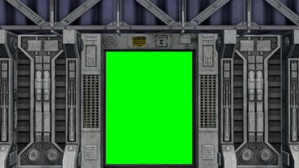 Spaceship interior with door opens and closes