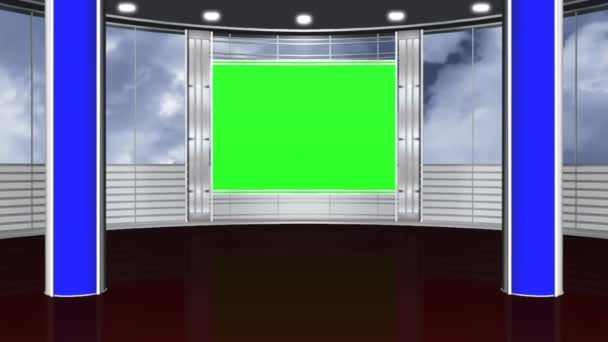 Virtual studio background - green screen
