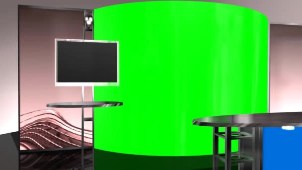 Virtueller Studiohintergrund - grüner blauer Bildschirm-Effekt