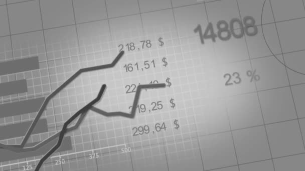 Growing charts animation black-white