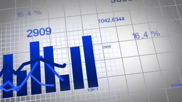 Animation of growing charts - blue