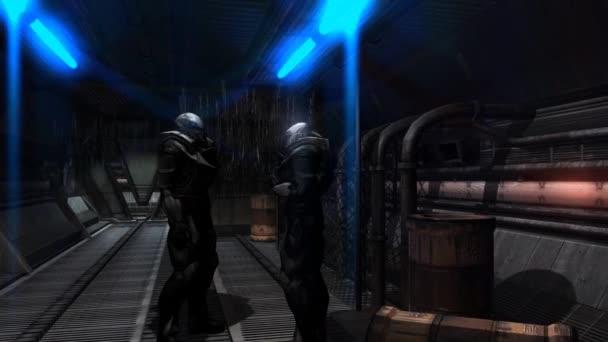 Future Soldier - Space Trooper - Spaceship Corridor - Video Background