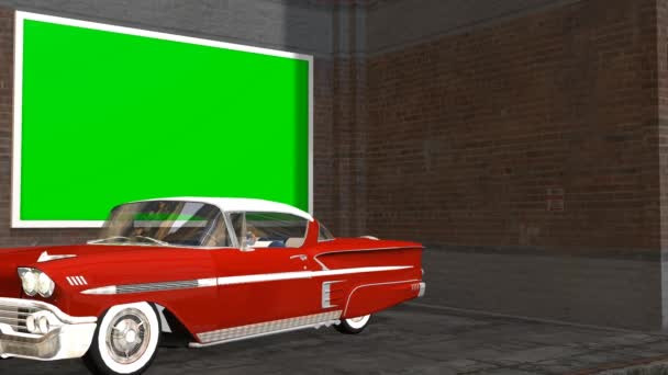 Virtual Studio Background with Green Screen wall animation