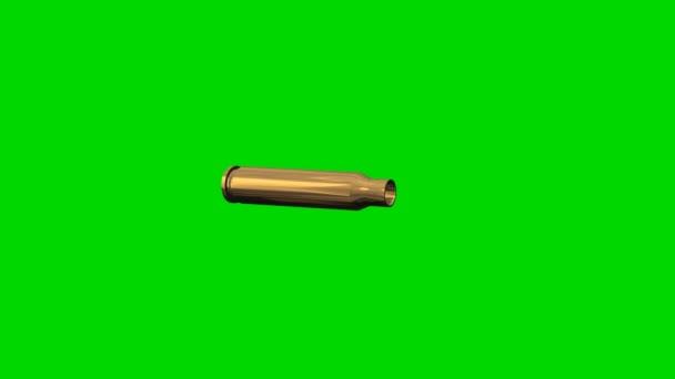 Geschosse drehen sich - grüner Bildschirm