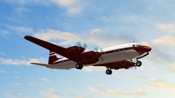 Letadla Douglas Dc-7 ve fly - detail