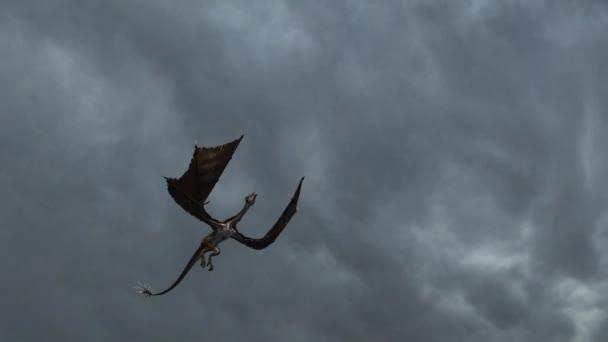 Sárkány repül zivatar - közelről