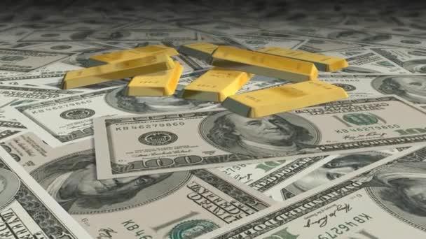 Dolly prolétly dolarové bankovky a zlaté cihly