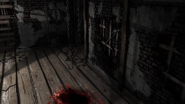 Creepy horror house room - dolly shoot