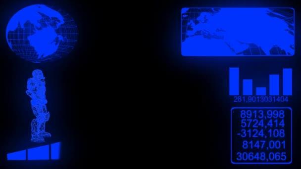 Hi-Tech Hud displej animace