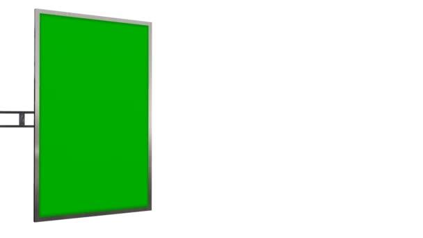 Virtuální Studio Tv Monitor s zelenou obrazovku animace