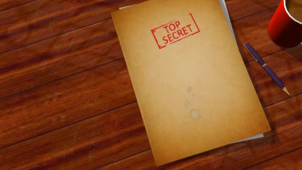 Secret Files opens animation with green screen pictures inside