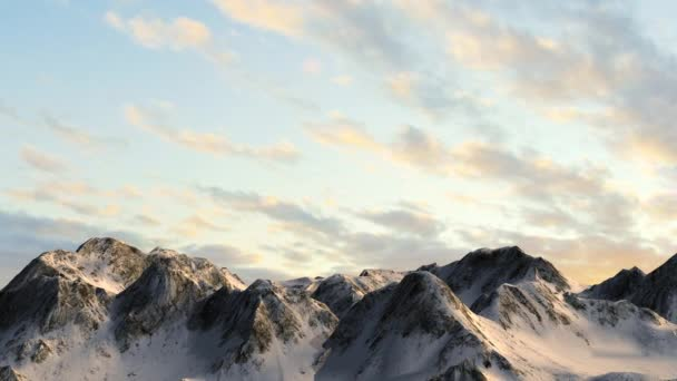 Hory v sunset - snímek kamery