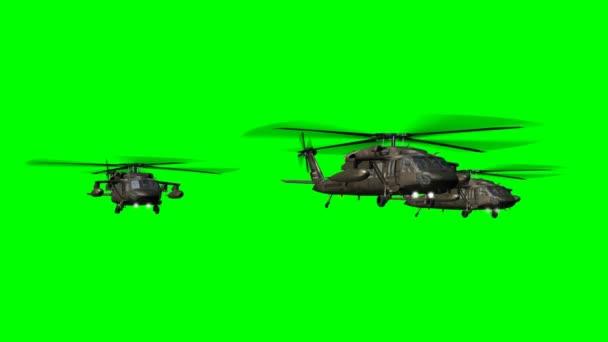 Vojenský vrtulník Uh-60 Black Hawk létat - fabion