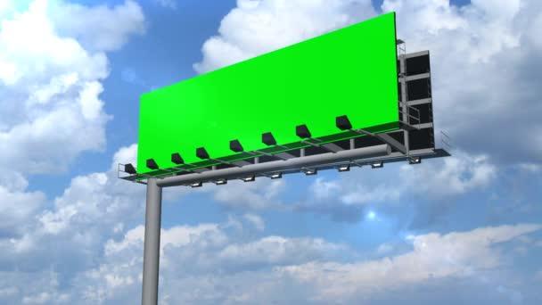 Illboard s pohyblivou mraky - zelená