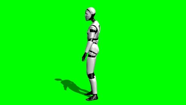 Lidské I Robot rozhlížet