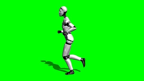 Emberi I-Robot fut - zöld képernyő