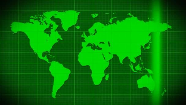 Mapa skenování satelitní radar