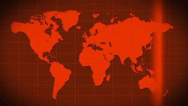 Map scanning satellite radar
