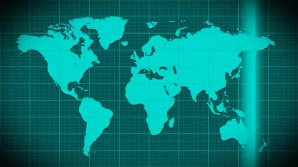 Mapa skenování satelit radaru