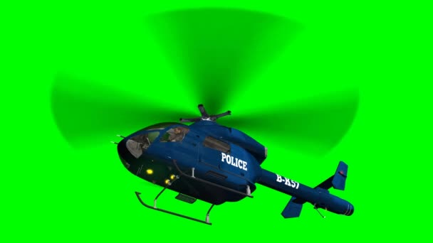 Policejní vrtulník ve fly - zblízka - fabion