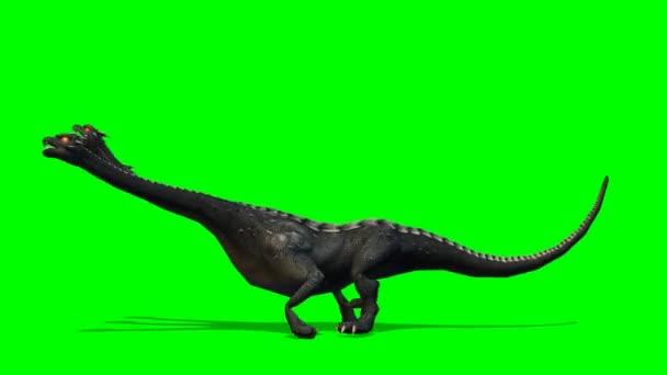 Loch Ness - Hydra mystical water Dragen Snake runs - green screen
