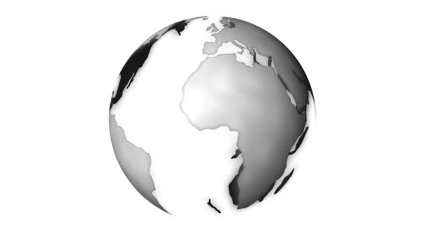 Globe rotating on white background
