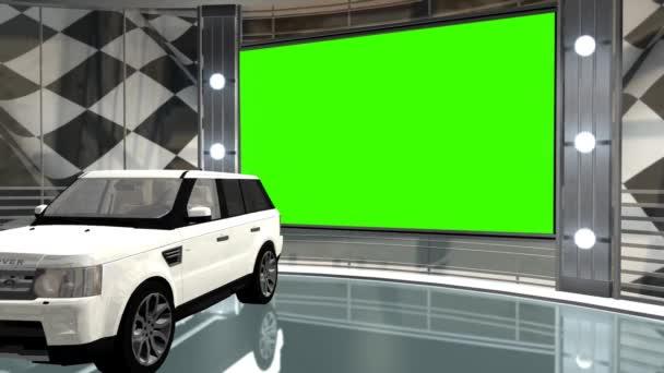 Car in virtual studio