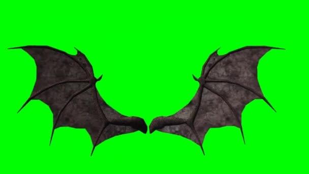 Demon Wings In Flight Stock Video C Bestgreenscreen 67856551