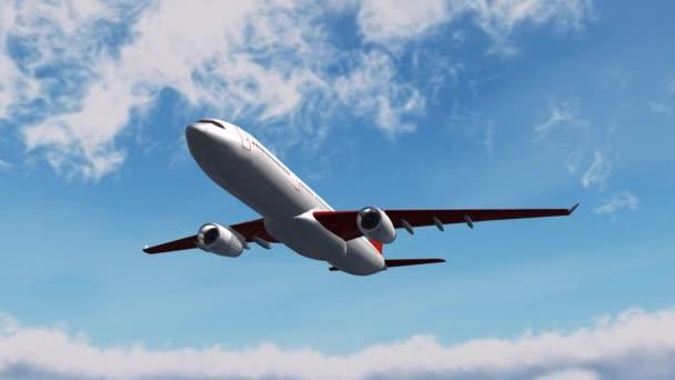 letadlo letí v nebi