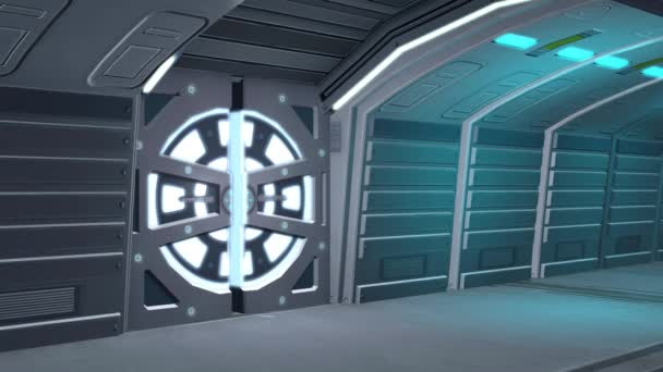 Futuristic stock videos royalty free futuristic footages for Puerta nave espacial