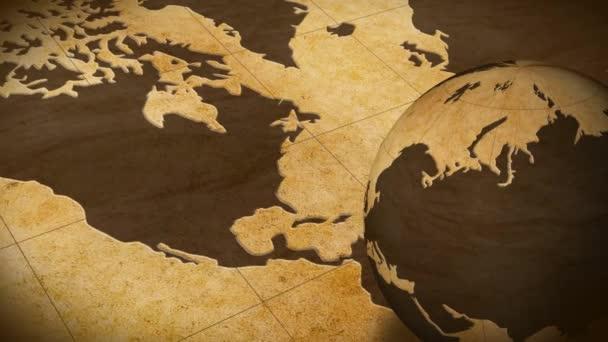 Rotating globe on map