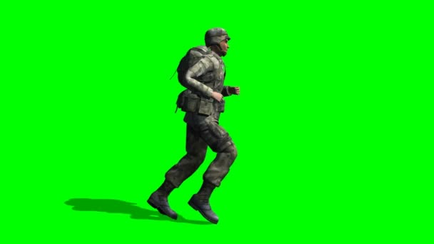 Soldato maschio ci corre
