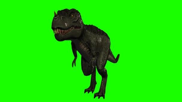 T-rex na zelené obrazovce