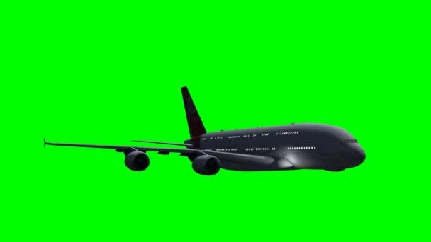 Airbus A380 v létání n zelená obrazovka