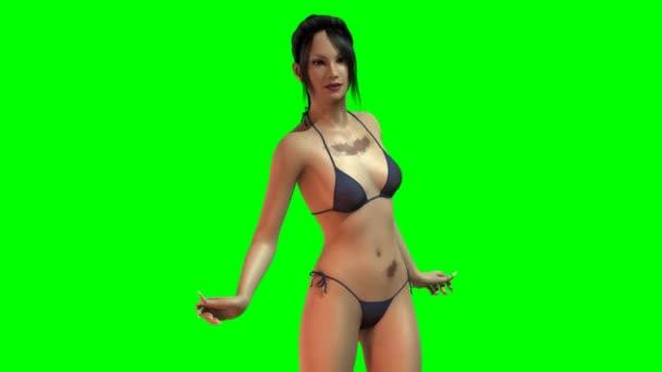 heiße sexy Mädchen tanzen im Bikini