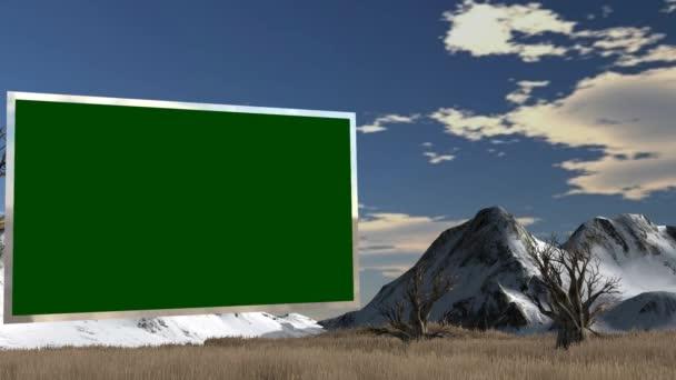 Green screen in savanna