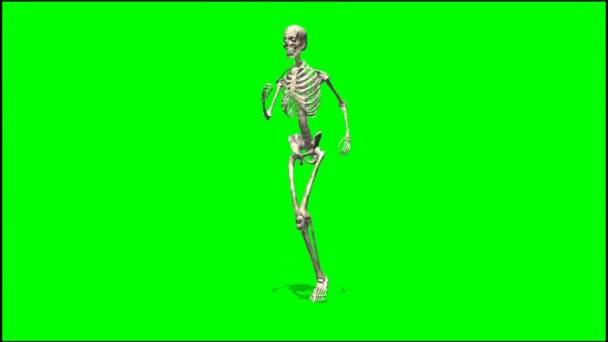 Male skeleton runs